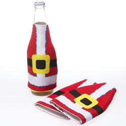 Santa Suit Bottle Koozies