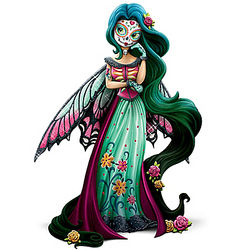 Magical Blessing Sugar Skull Fairy Figurine