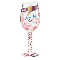 Love My Cat Wine Glass