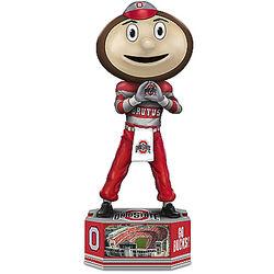 Brutus Buckeye Ohio State University Figurine on Pedestal Base