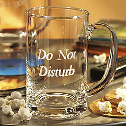 Do Not Distrub Glass Mug with Handle