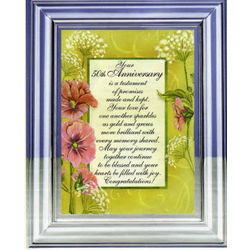 50th Anniversary Musical Frame with Poem