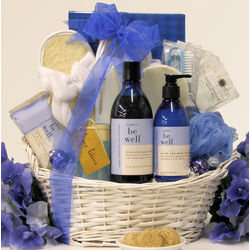 Mother's Day Be Well Lavender Vanilla Spa Pleasures Gift Basket