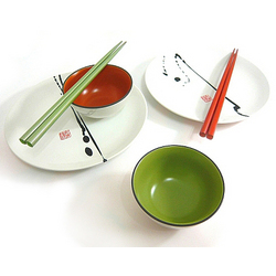 Brush Painting Sushi Set for Two