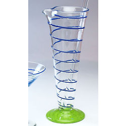 Handblown Glass Martini Pitcher