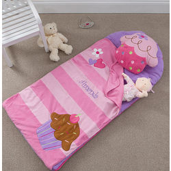 Personalized Cupcake Sleeping Bag or Nap Mat