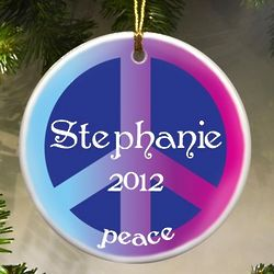 Serenity Peace Sign Ornament