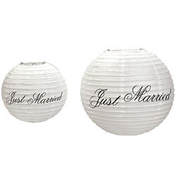 Just Married Paper Lanterns