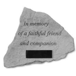 In Memory of a Faithful Pet Personalized Dog Memorial Stone