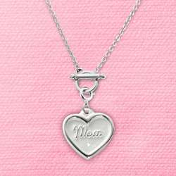 Wax Seal Mom Charm Necklace