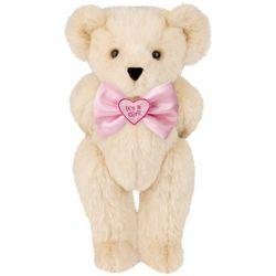 "15"" It's a Girl! Bowtie Teddy Bear"