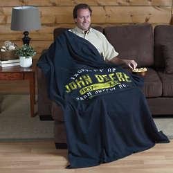 Grey John Deere Fleece Blanket