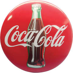 Coca-Cola Contour Bottle Button Sign