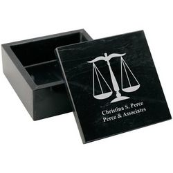 Personalized Marble Trinket Box for Lawyers