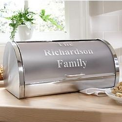 Personalized Stainless Steel Breadbox