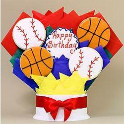 Happy Birthday Sports Cookie Bouquet