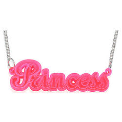 Neon Pink Name Necklace