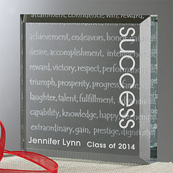 Meaning of Success Personalized Crystal Block