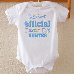 Easter Egg Hunter Personalized Baby Boy Bodysuit
