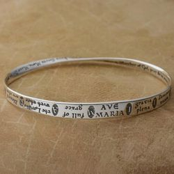 Sterling Silver Ave Maria Mobius Bracelet