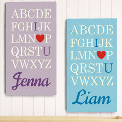 Personalized I Love You Alphabet Wall Canvas