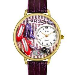 Shoe Shopper Watch in Large Gold Case