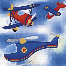 Kid's Airplanes Canvas Print