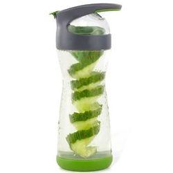 20 Fl. oz Cucumber Water Glass Water Green Bottle