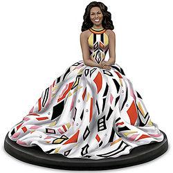 Portrait of First Lady Michelle Obama Figurine