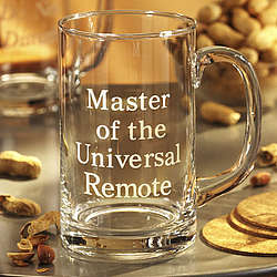 Master of the Universal Remote Glass Mug with Handle
