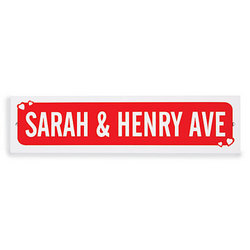 Personalized Valentine Street Sign