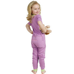 Purple Dropseat Toddler Pajamas