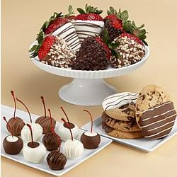 Fancy Dipped Strawberries, Dipped Cherries & Dipped Cookies