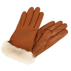 Fashion Shearling Shorty Dress Gloves