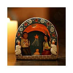 Peruvian Cave of Stars Nativity Scene