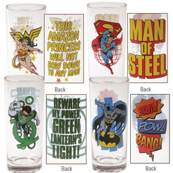 DC Comics 75th Anniversary Collector Glasses