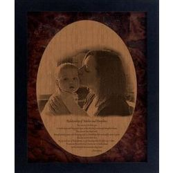Mother's Day Framed Pyrograph