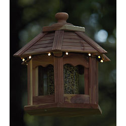 Lighted Gazebo Bird Feeder