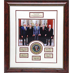 Five American Presidents Framed Photo Collage