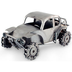 Rustic Beetle Iron Sculpture