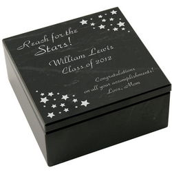 Personalized Marble Graduation Jewelry Box