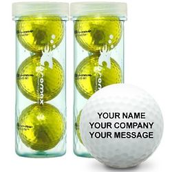 Metallic Gold Personalized Golf Balls