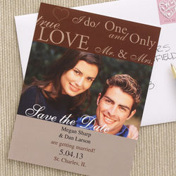Personalized Save the Date Photo Wedding Announcement Cards