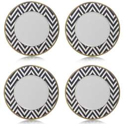 Blue Gold Zigzag Accent Plates