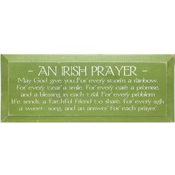 An Irish Prayer Wood Sign