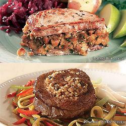 Stuffed Pork Chops and Pinwheel Steaks Gift Box