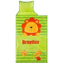 Personalized Cozy Lion Plush Nap Mat
