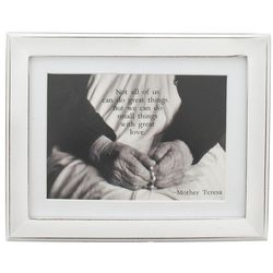 Mother Teresa Small Things with Great Love Framed Print