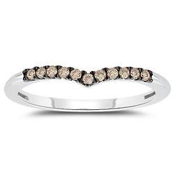 Champagne Diamond Ring in 10K White Gold