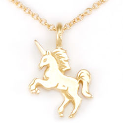 Life is Magical Gold Plated Unicorn Necklace